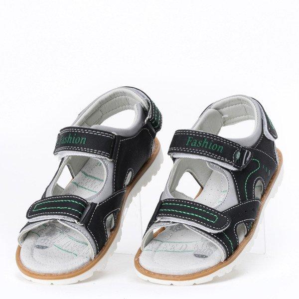 Chłopięce sandały w kolorze czarnym Carol - Obuwie
