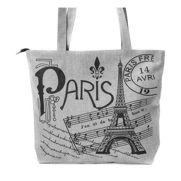 6377e2d0d399e Szara torba z tkaniny Paris - Torebki -