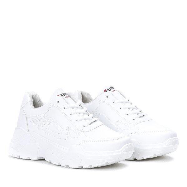 4e16556dda1cac ... Białe buty sportowe na grubej podeszwie Holly - Obuwie Kliknij, aby  powiększyć ...