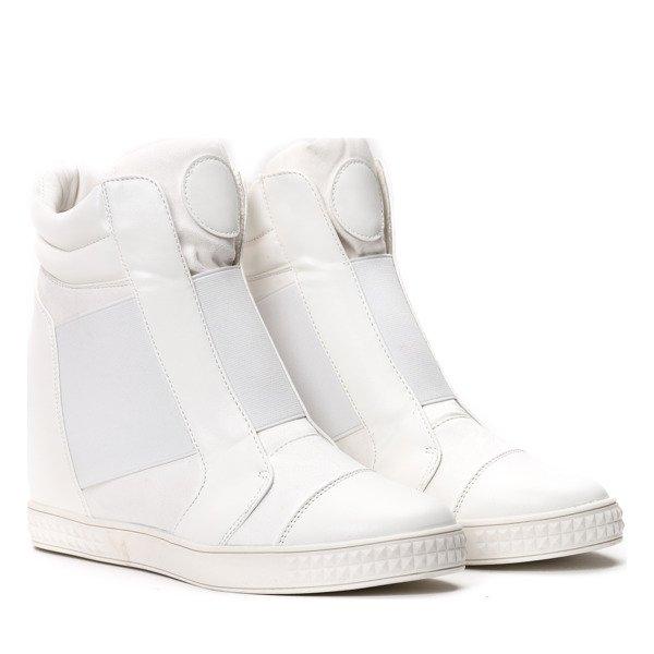 Białe sneakersy na krytym koturnie Brylee Obuwie