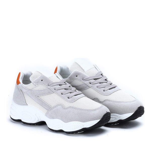 Biało szare buty sportowe na wyższej podeszwie Faith