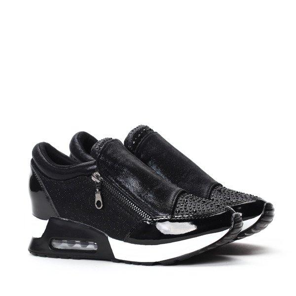 d635a8366f87c adidasy na koturnie czarne adidasy