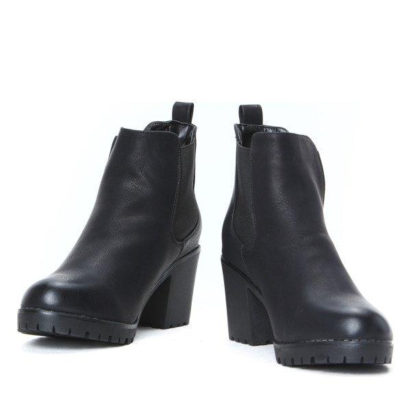 buty botki na grubym 4 cm obcasie