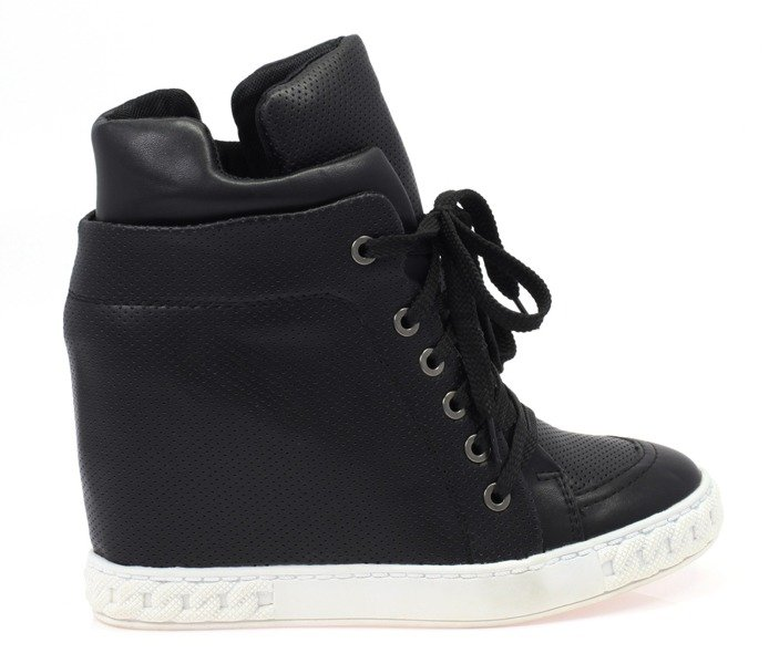 68c1669c36ff4 Czarne, sneakersy eko skóra - Obuwie - | Royalfashion.pl - sklep z ...
