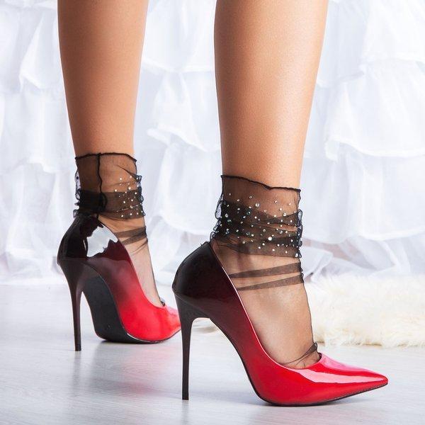 Czerwono Czarne Szpilki Makadamia Obuwie Czerwony Royalfashion Pl Sklep Z Butami Online