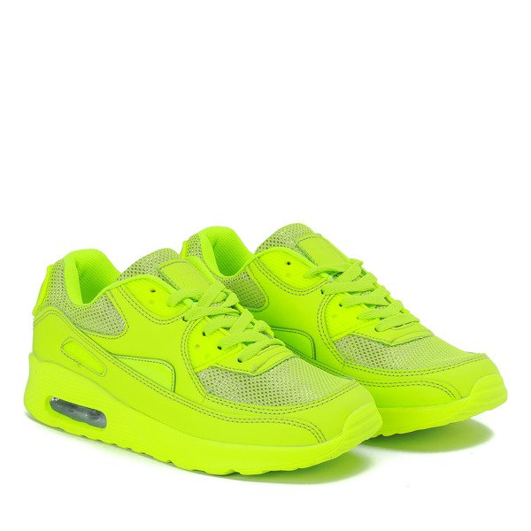 Neonowe Zielone Sportowe Buty Quirmea Obuwie Zielony Neonowy Royalfashion Pl Sklep Z Butami Online