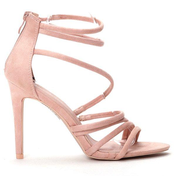 9420acf18b613 Różowe sandałki na szpilce - Obuwie - | Royalfashion.pl - sklep z ...