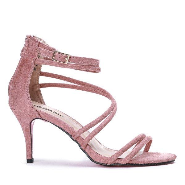 4224533977a84b ... Różowe sandały na niskiej szpilce Joleen - Obuwie Kliknij, aby  powiększyć ...
