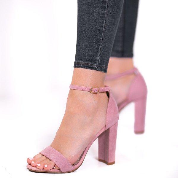 Brązowe sandały na słupku Alani Obuwie