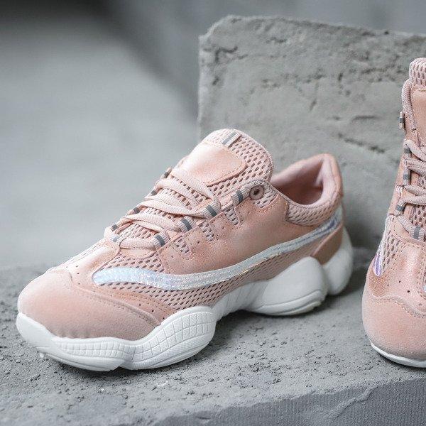 e40781da Różowe sportowe buty na wyższej podeszwie Zooey - Obuwie Kliknij, aby  powiększyć ...