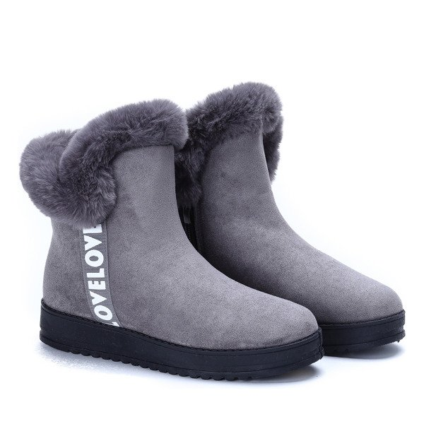 98ca57fca168b Szare śniegowce Viola - Obuwie - | Royalfashion.pl - sklep z butami ...