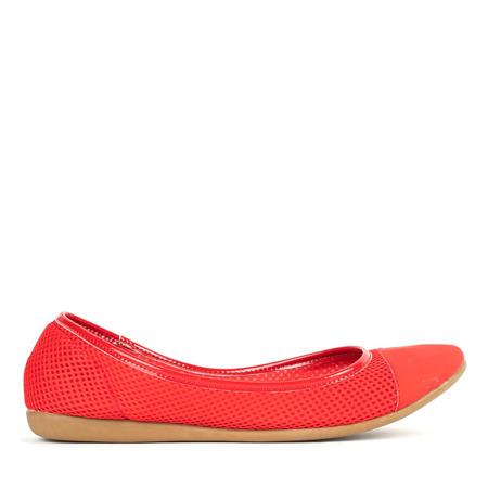 Baleriny w kolorze czerwonym Mireia - Obuwie