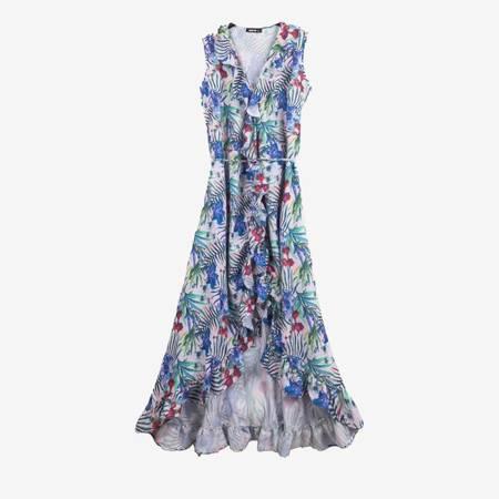 Biała kopertowa sukienka maxi - Odzież