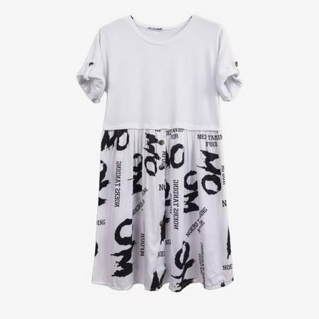 Biała tunika z podwijanym rękawem - Odzież