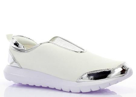 Białe adidasy slip on - Obuwie
