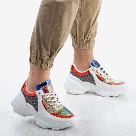 Białe buty sportowe z kolorowymi wstawkami Outta My Head - Obuwie