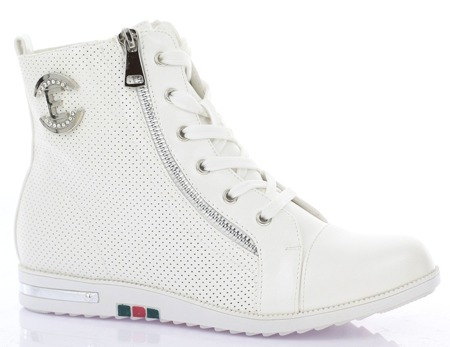 Białe sneakersy  - Obuwie