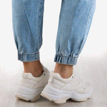 Białe sneakersy damskie Youth - Obuwie