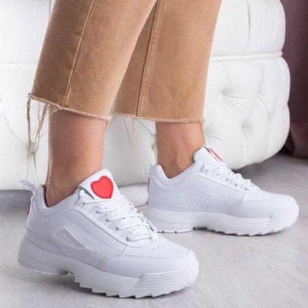 Białe sneakersy na platformie Jenifer - Obuwie