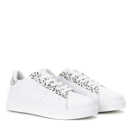 Białe sportowe buty w czarną panterkę Colorful Panther - Obuwie