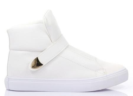 Białe, sportowe trampki - Obuwie