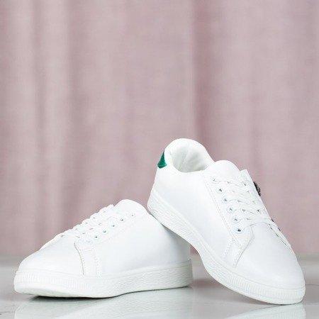 Białe tenisówki z ozdobnymi wstawkami California Vibes - Obuwie