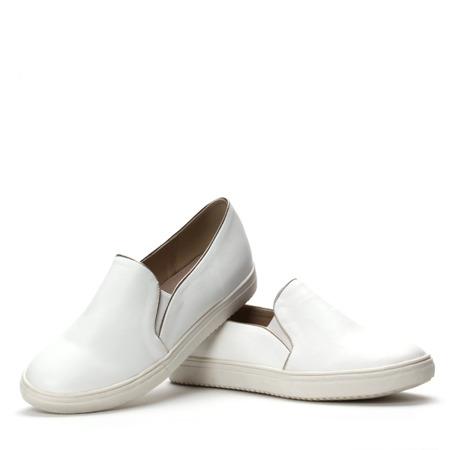 Białe trampki slip on  - Obuwie