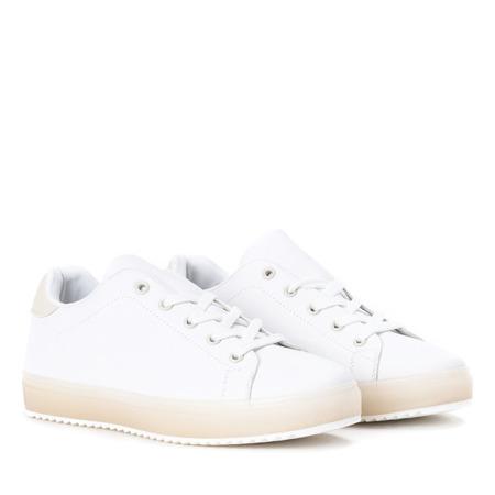 Biało beżowe tenisówki Ivye Obuwie