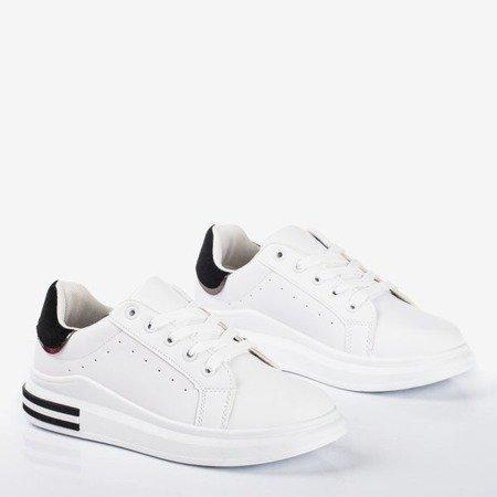 Biało - czarne sportowe tenisówki Solessia - Obuwie