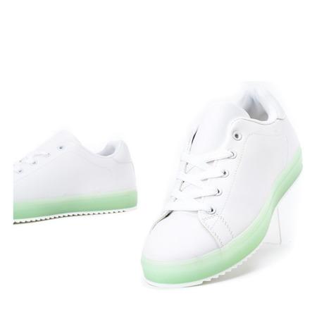 Biało - zielone tenisówki Robinson - Obuwie