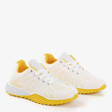 Biało-żółte buty sportowe Finish - Obuwie