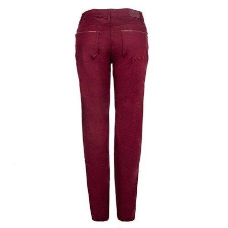 Bordowe jeansy PLUS SIZE - Spodnie