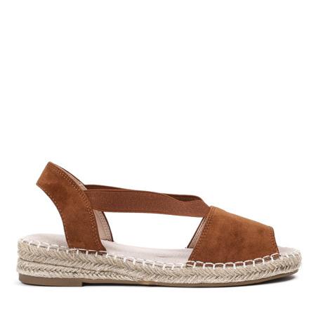 Brązowe sandały a'la espadryle na platformie Motilla - Obuwie