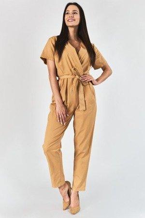 Brązowy kombinezon damski - Odzież