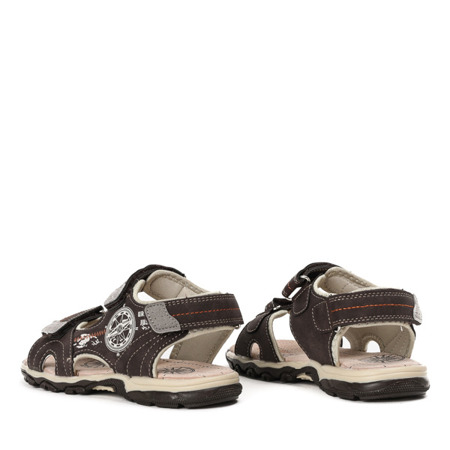 Chłopięce sandały w kolorze brązowym Oliver - Obuwie