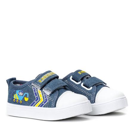 Chłopięce trampki w kolorze niebieskim Bobby - Obuwie