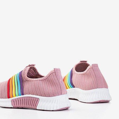 Ciemnoróżowe sportowe buty damskie typu slip - on Sweet Rainbow - Obuwie