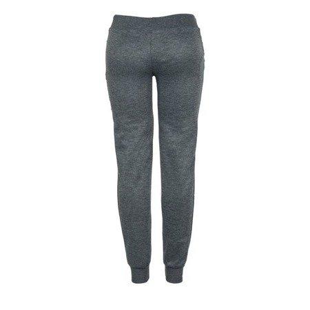 Ciemnoszare spodnie dresowe z napisami - Spodnie