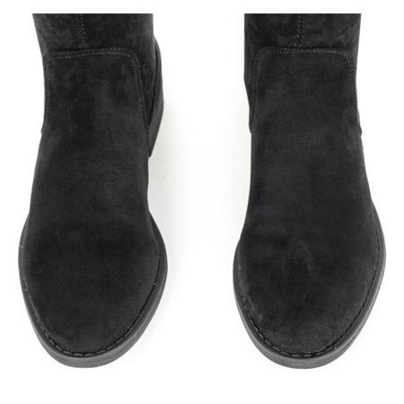 Czarne botki z eko-zamszu Jasanner - Obuwie