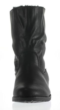 Czarne botki z suwakiem - Obuwie