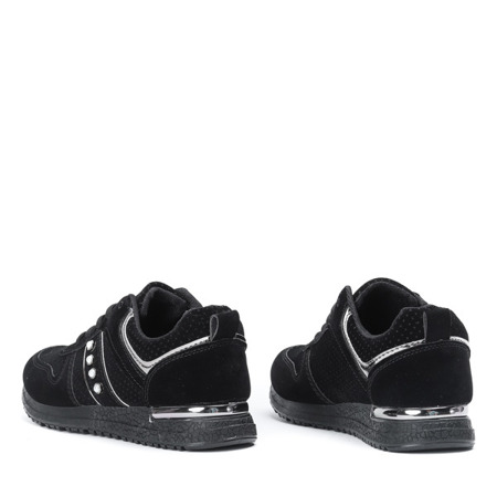 Czarne buty sportowe z ekologicznego zamszu Maxime - Obuwie