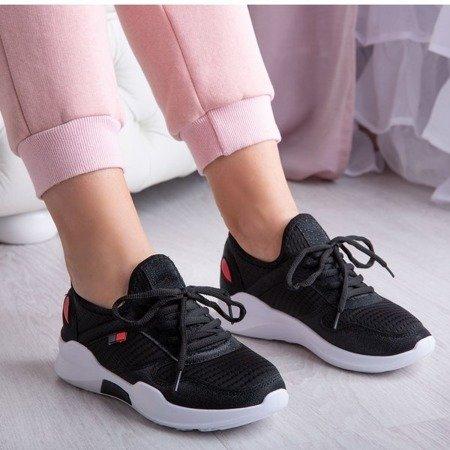 Czarne buty sportowe z ozdobami Kayly - Obuwie