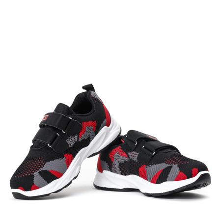 Czarne chłopięce buty sportowe Rometyn - Obuwie