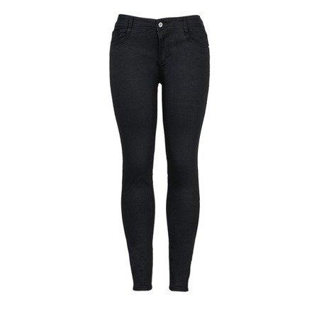 Czarne damskie spodnie jeansowe - Spodnie