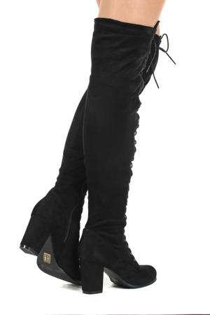 Czarne, długie kozaki  - Obuwie
