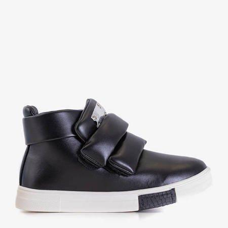 Czarne dziecięce sneakersy Dama - Obuwie