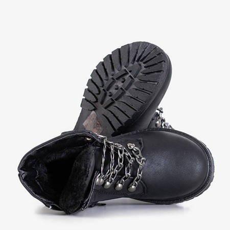 Czarne dziecięce trapery Heila - Obuwie