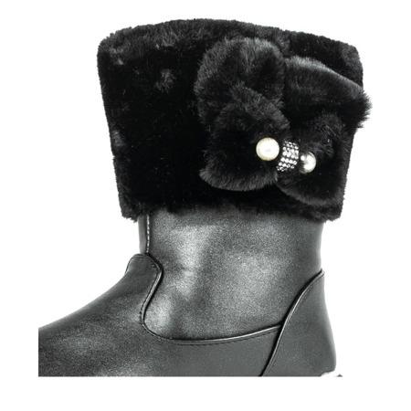 Czarne dziewczęce śniegowce Doll - Obuwie