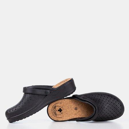 Czarne klapki chodaki Hortus - Obuwie