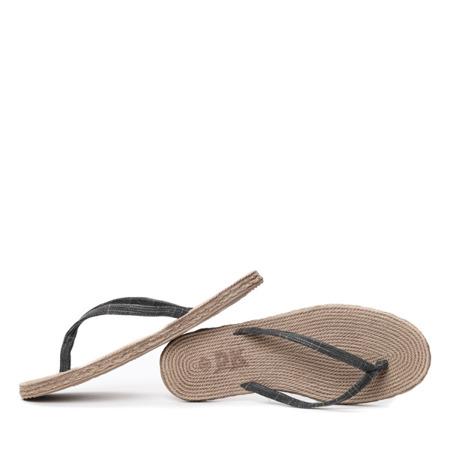 Czarne klapki japonki - Obuwie